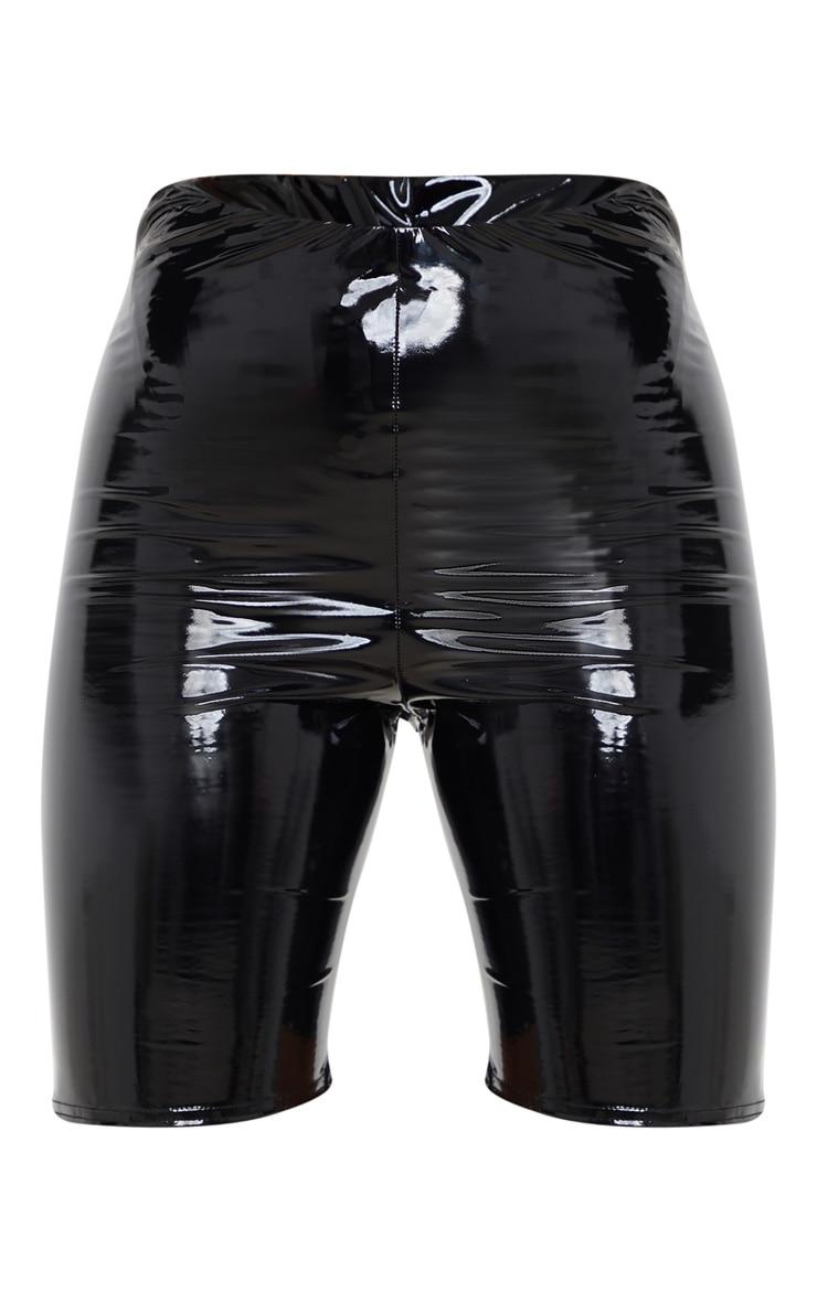 Black Vinyl Bike Short 3