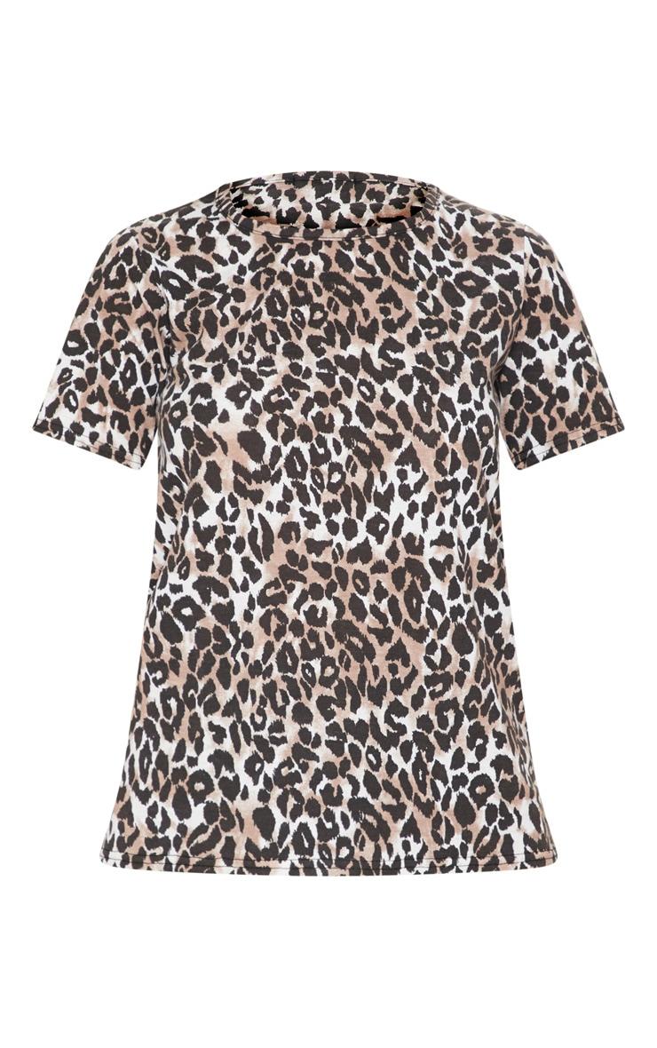 Tan Leopard Print Tshirt 3