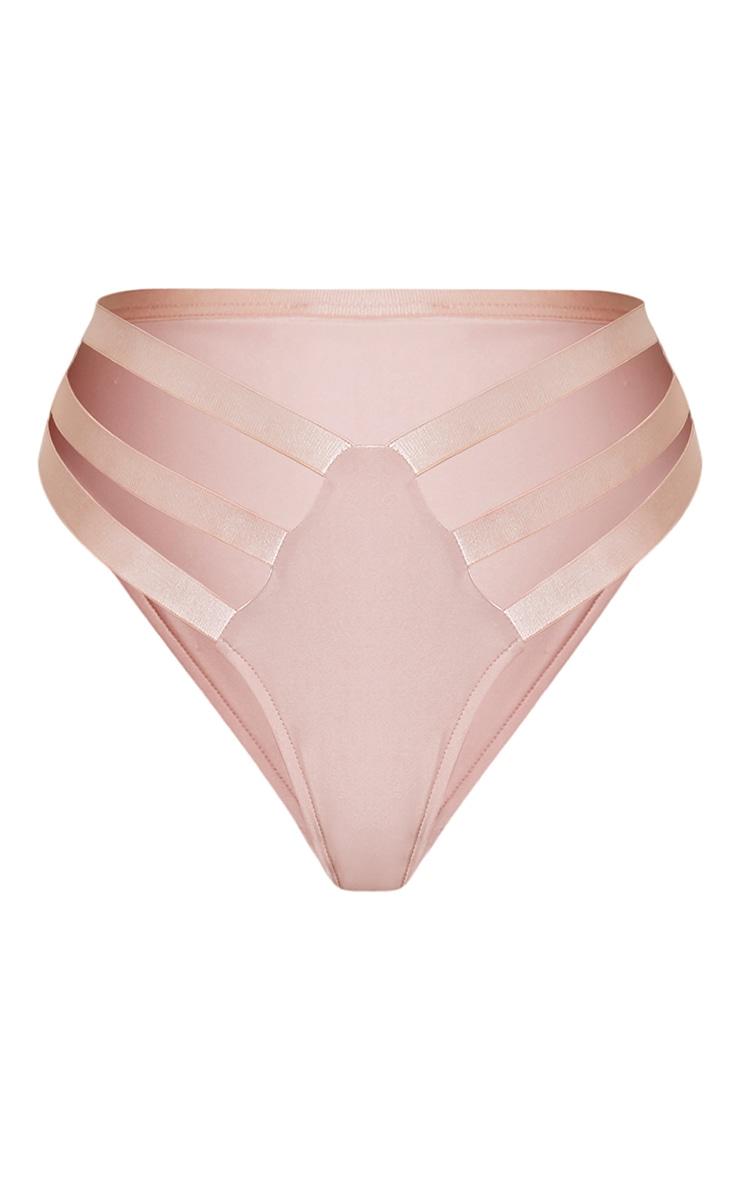 Jenna Pink Multi Strap Bikini Bottoms 3