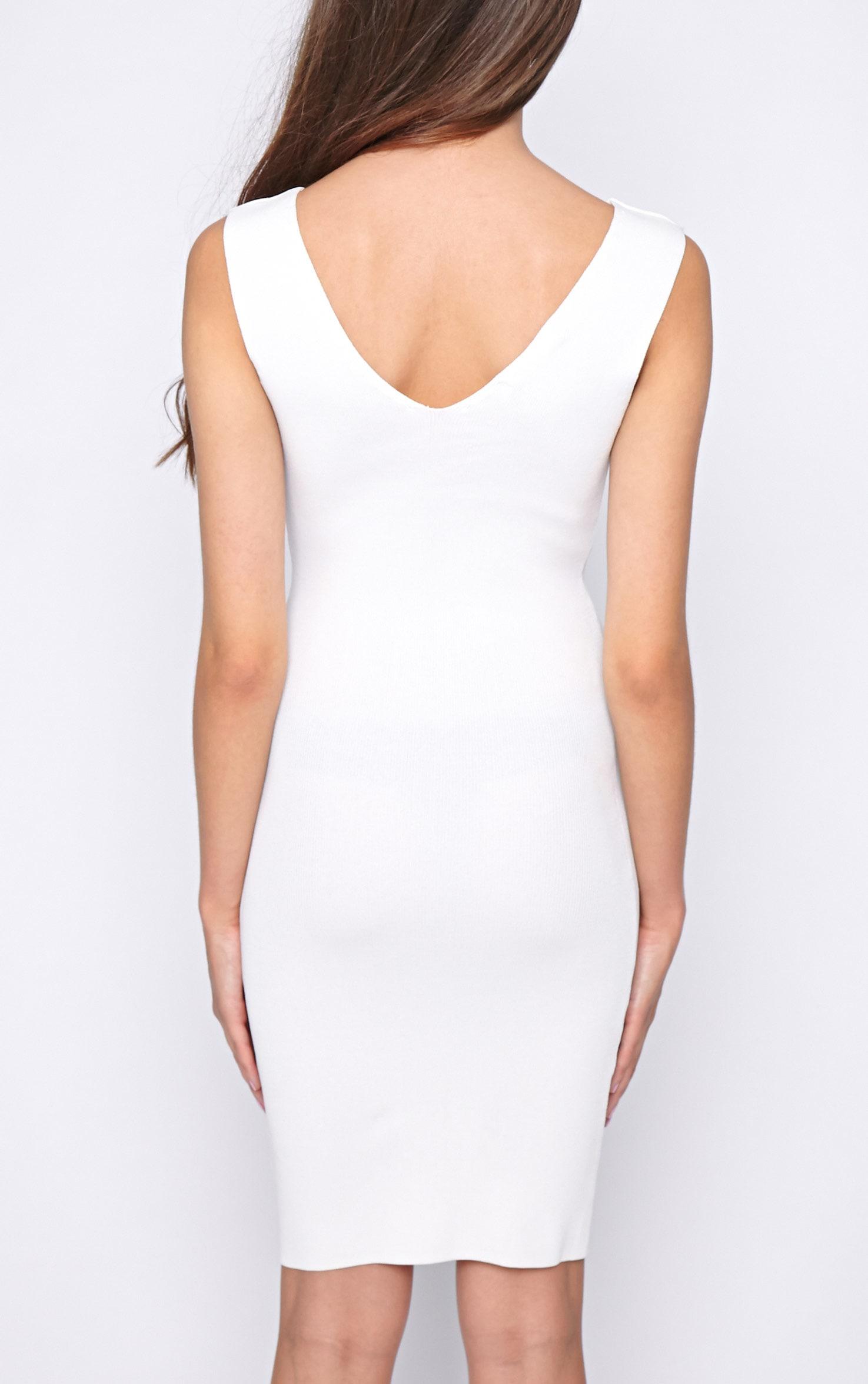 Becky White Bodycon Stretch Dress 2