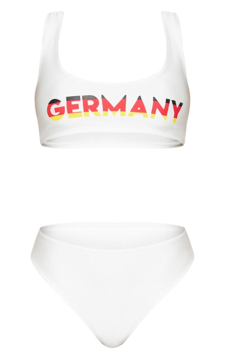 White Germany Football Bikini Set 3
