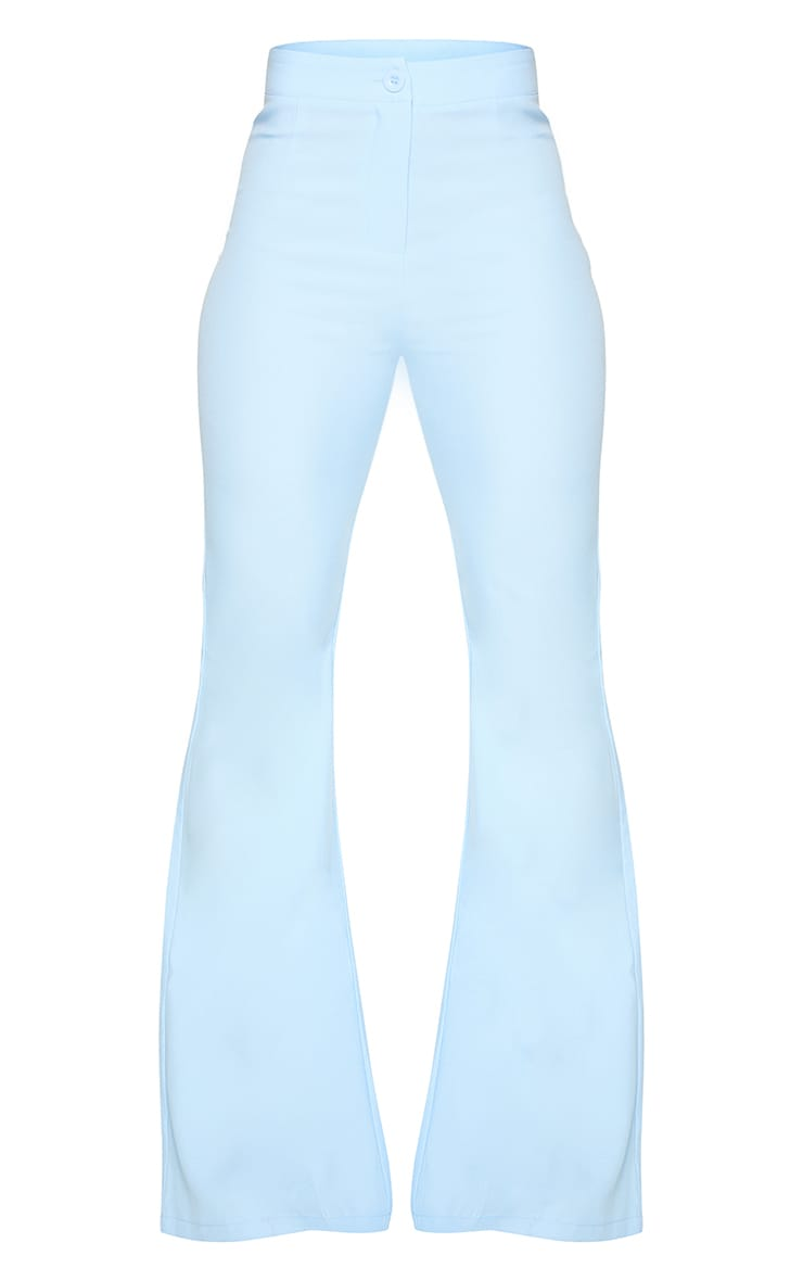 Cornflower Blue Woven Flared Pants 5