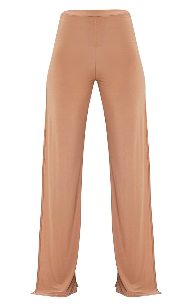 Darsee Camel Side Split Slinky Trousers 3