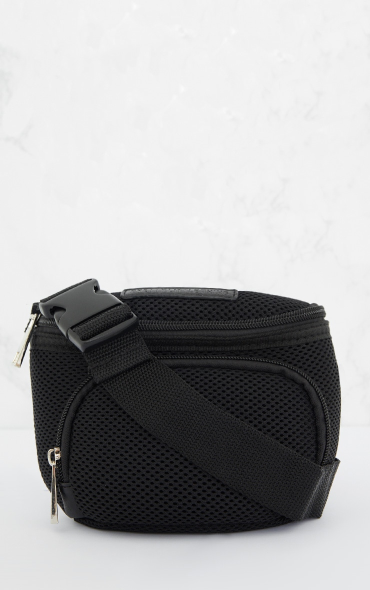 PRETTYLITTLETHING Black Mesh Bum Bag 3