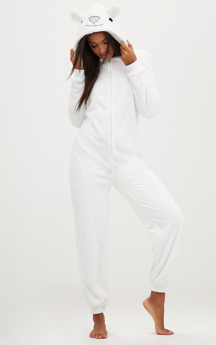 White Polar Bear Onesie 1