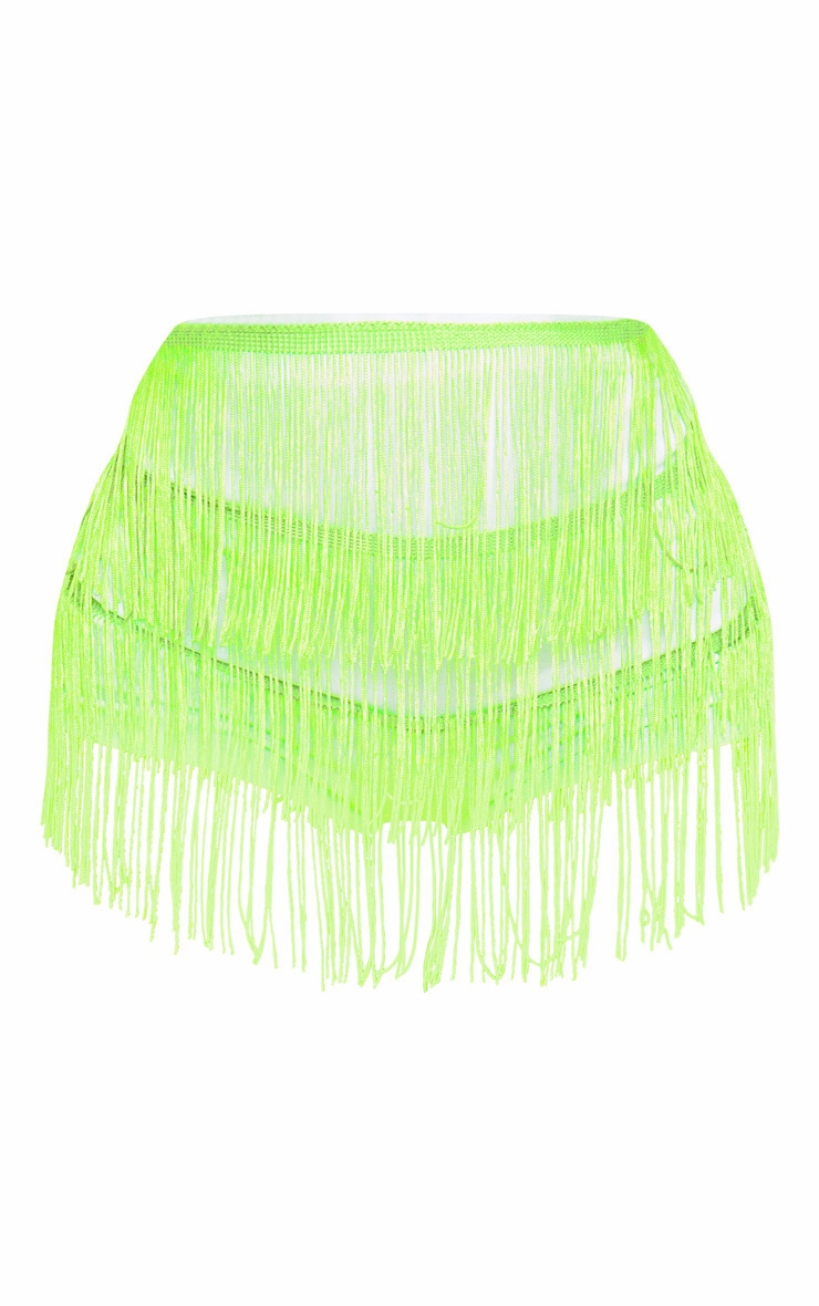 Green Tiered Fringe Short 3