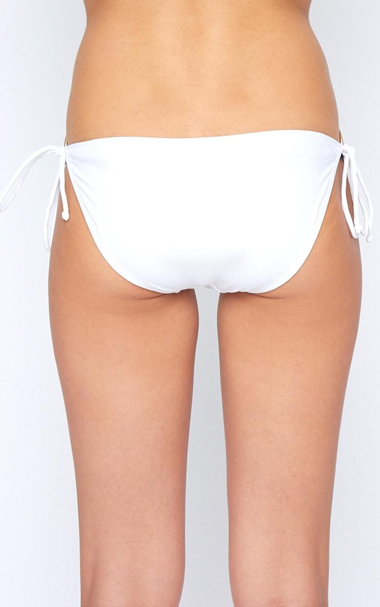 Christina White Tassel Triangle Bikini Top 3