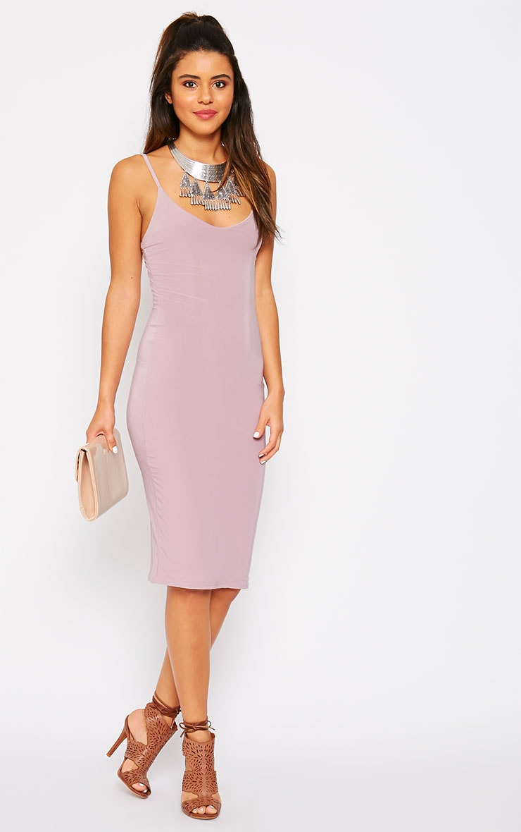 Harpe Mauve Slinky Midi Dress 1