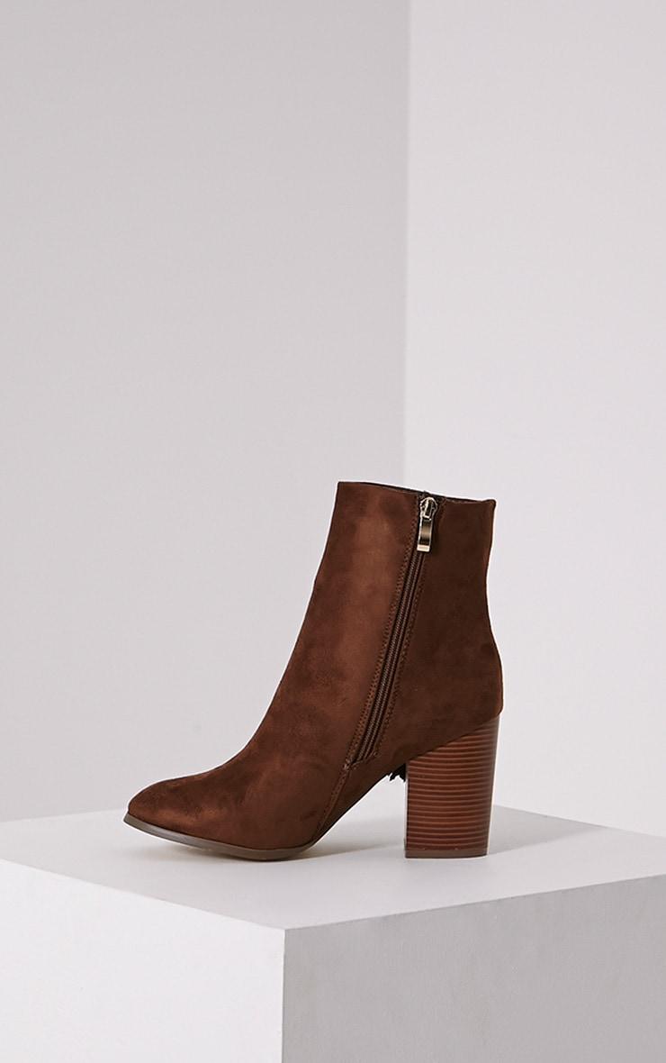 Yasmina Tan Fringe High Ankle Boots 4