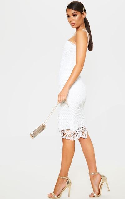 bf1ba3713f White Lace Corset Cami Bodycon Dress