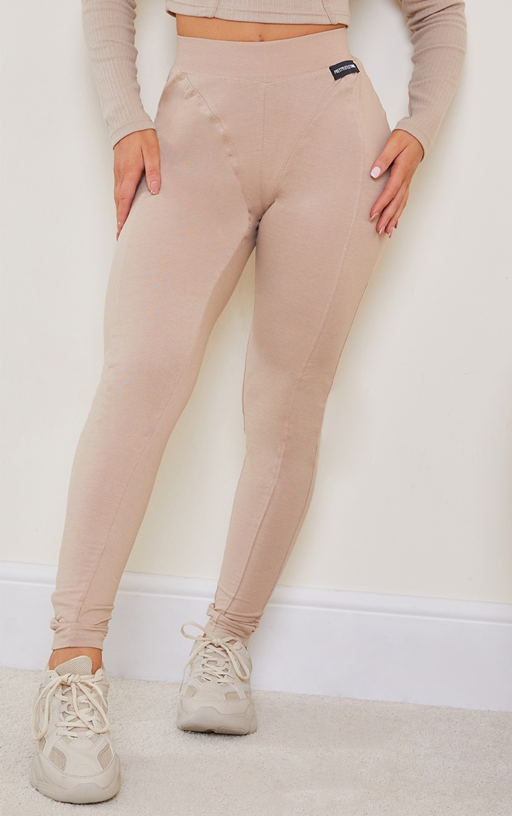 PRETTYLITTLETHING Stone Seam Detail Leggings 2