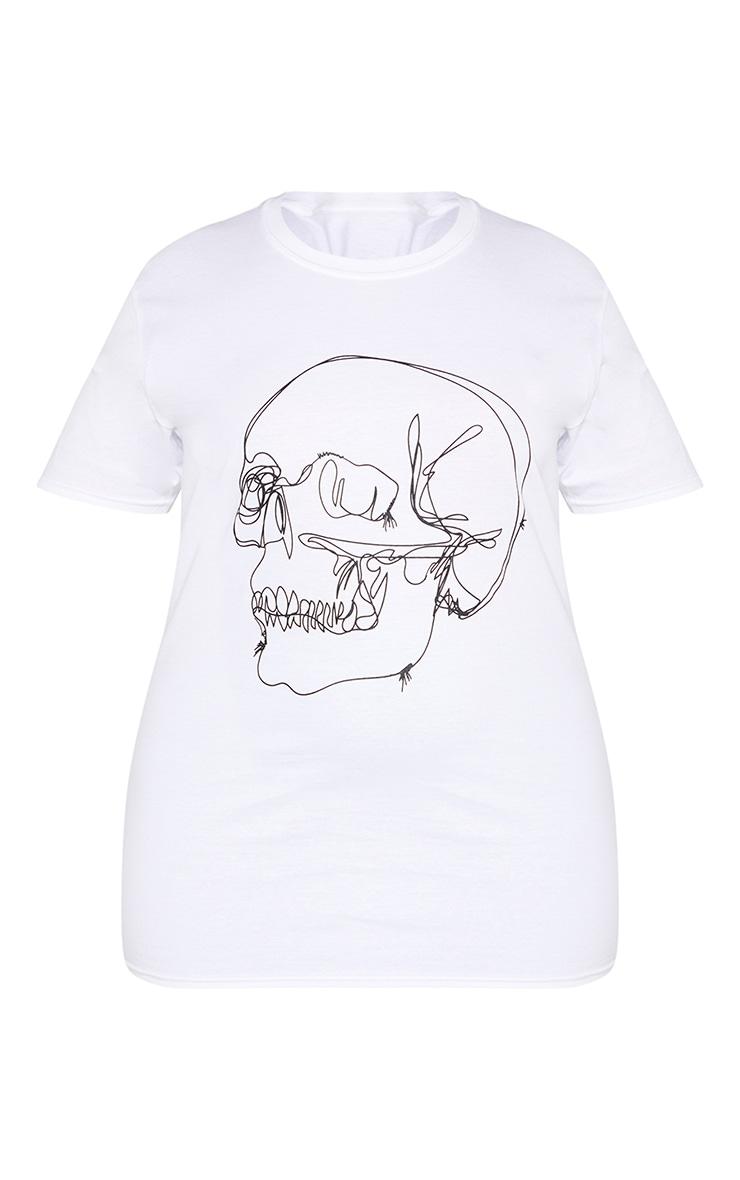 Plus White Skull Tee Shirt 3