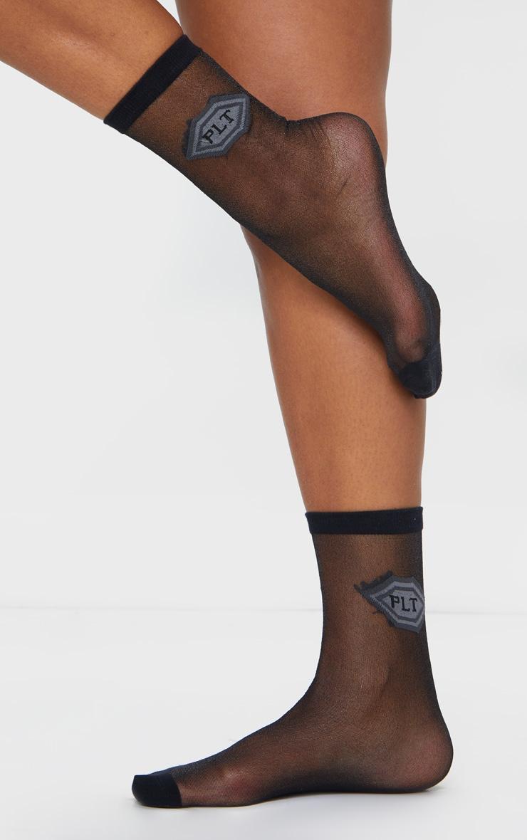 PRETTYLITTLETHING Black Mesh Socks 1