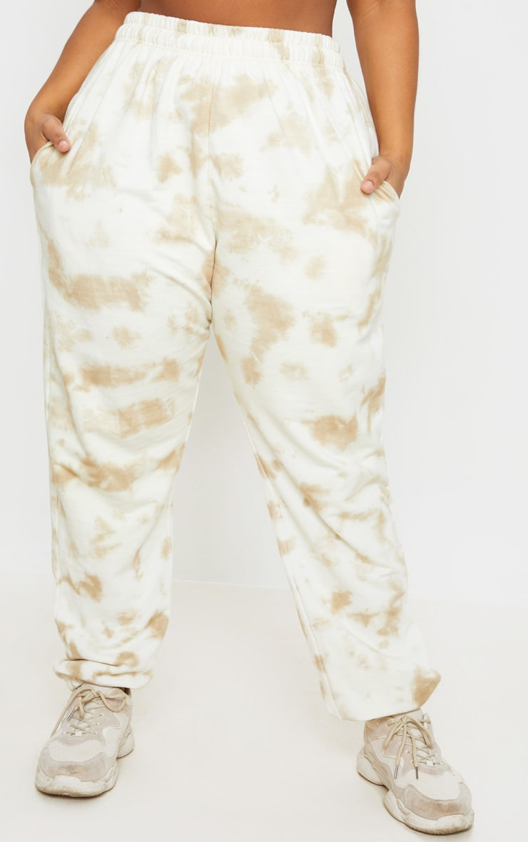 Plus Cream Tie Dye Jogger 2