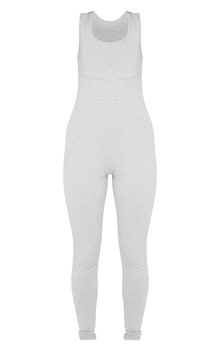 Grey Binding Scoop Neck Jumpsuit 3