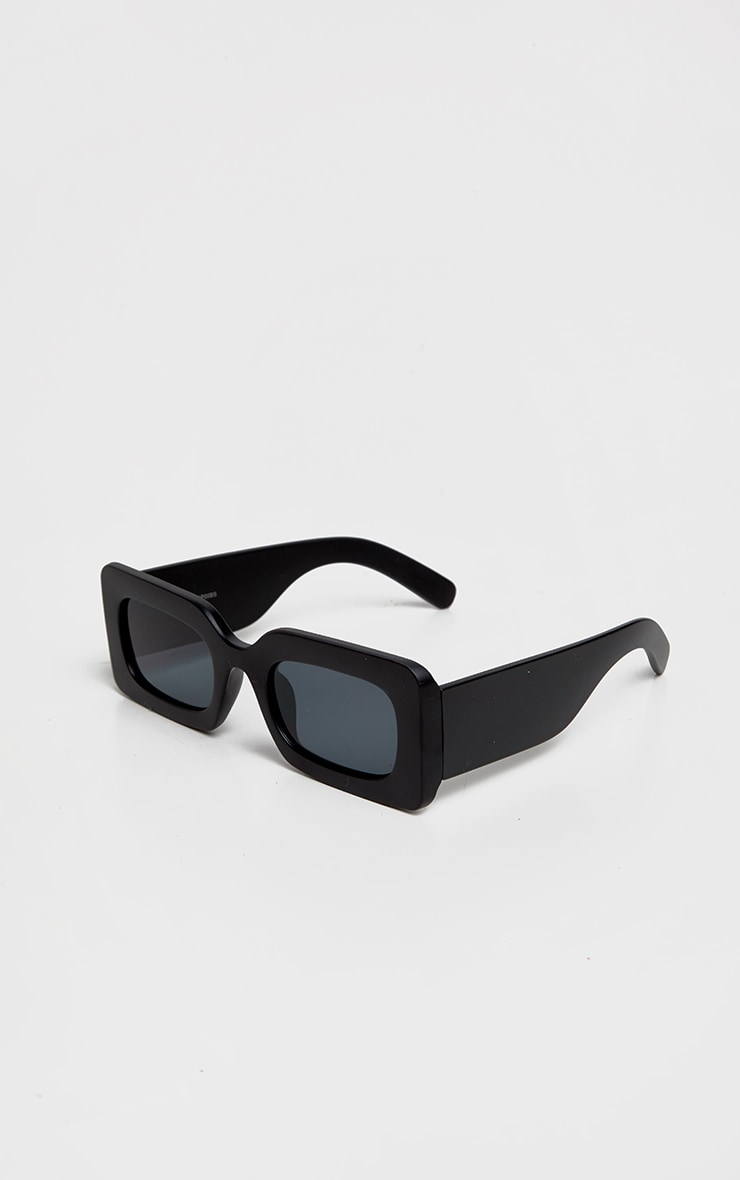 Black Oversized Square Frame Sunglasses 3