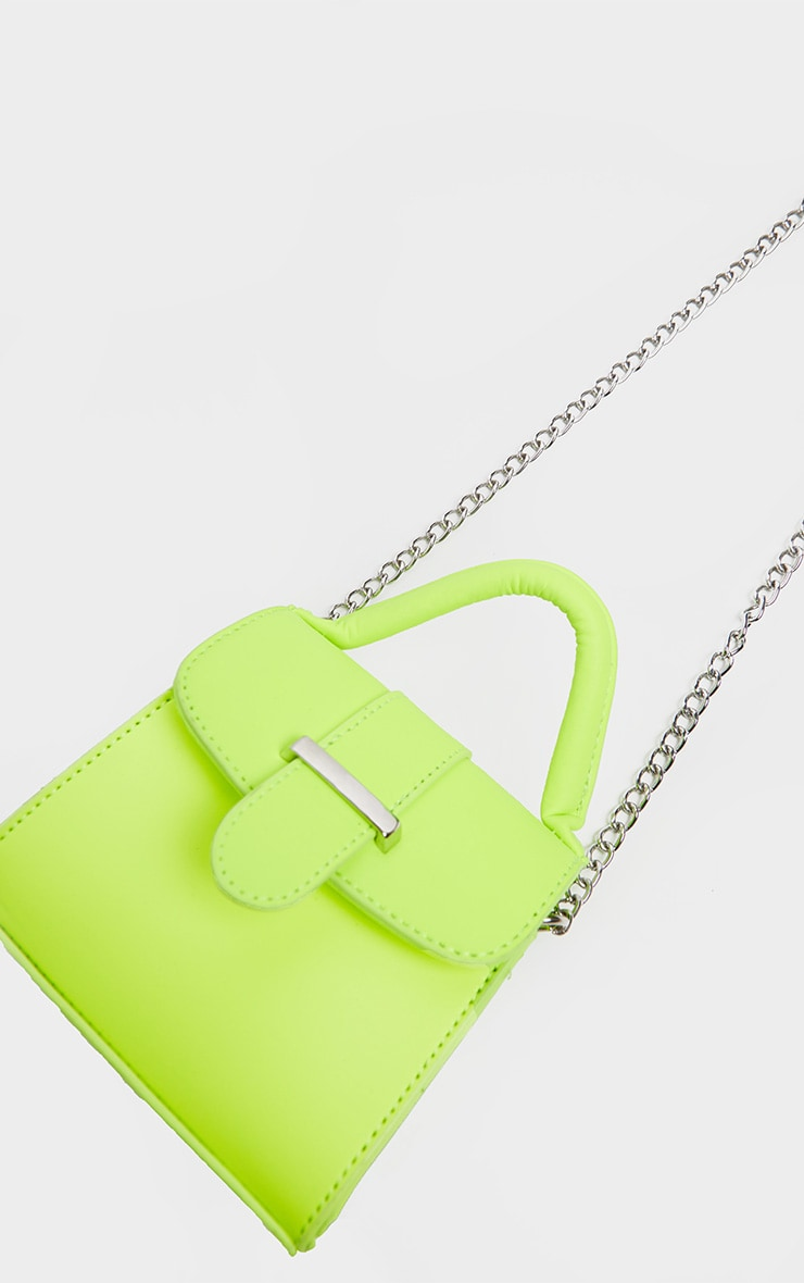 Neon Lime One Handle Mini Grab Bag 2