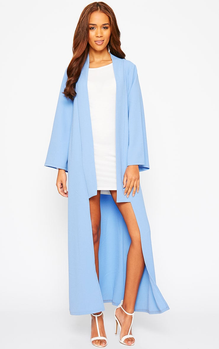 Robin Powder Blue Maxi Duster Coat 3