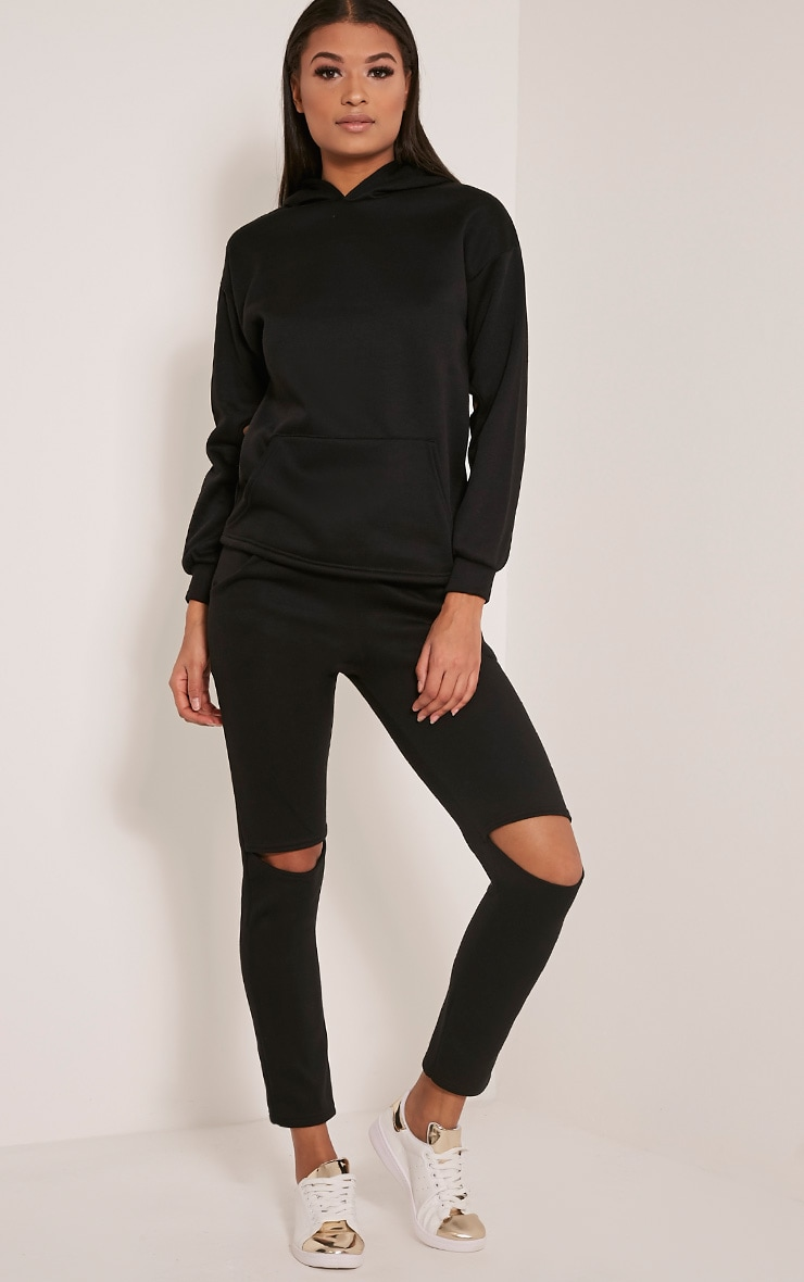 Dionne Black Slit Elbow Sweater 4