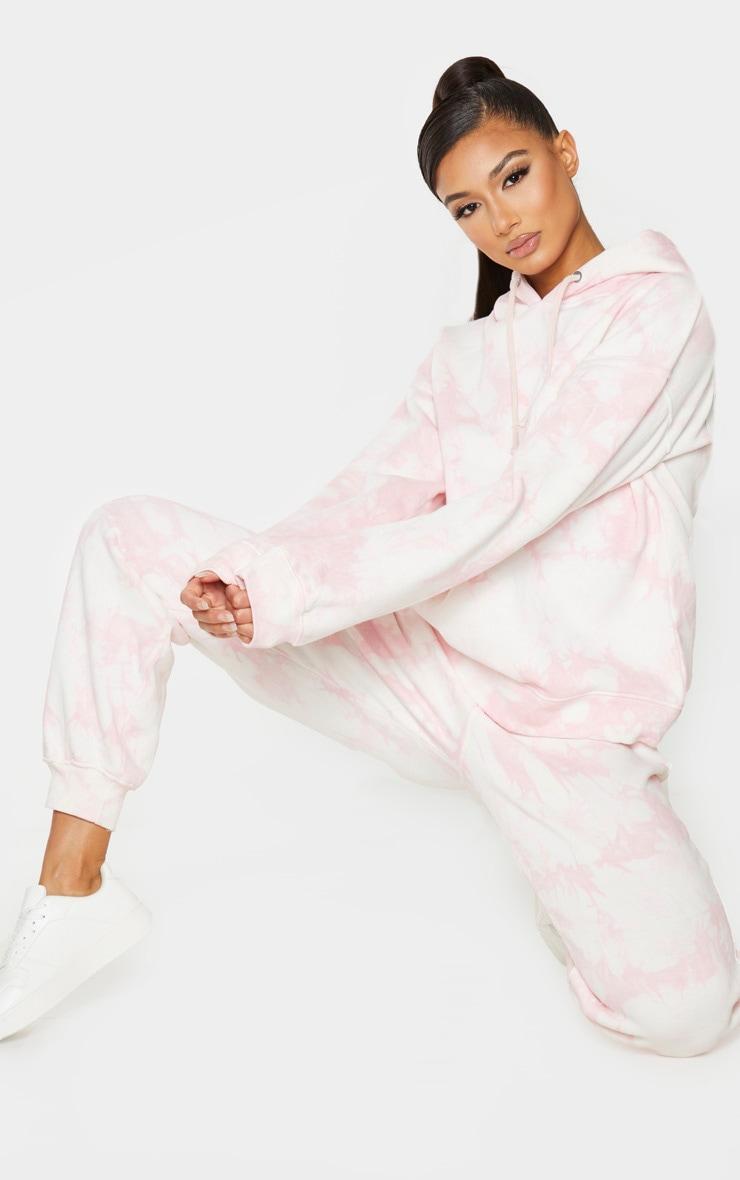 Light Pink Tie Dye Joggers 1