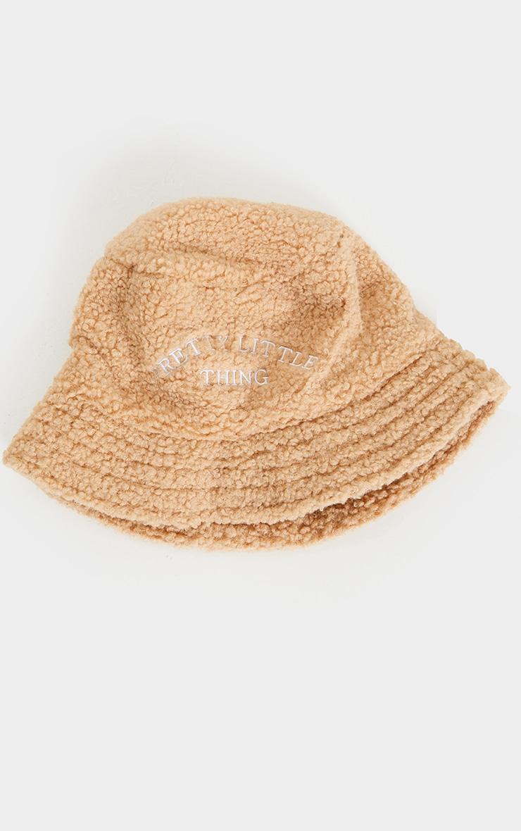 PRETTYLITTLETHING Tan Borg Bucket Hat 3