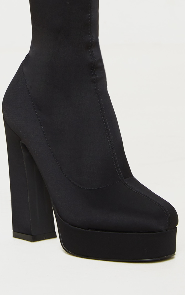 Black Thigh High Platform Boot 4