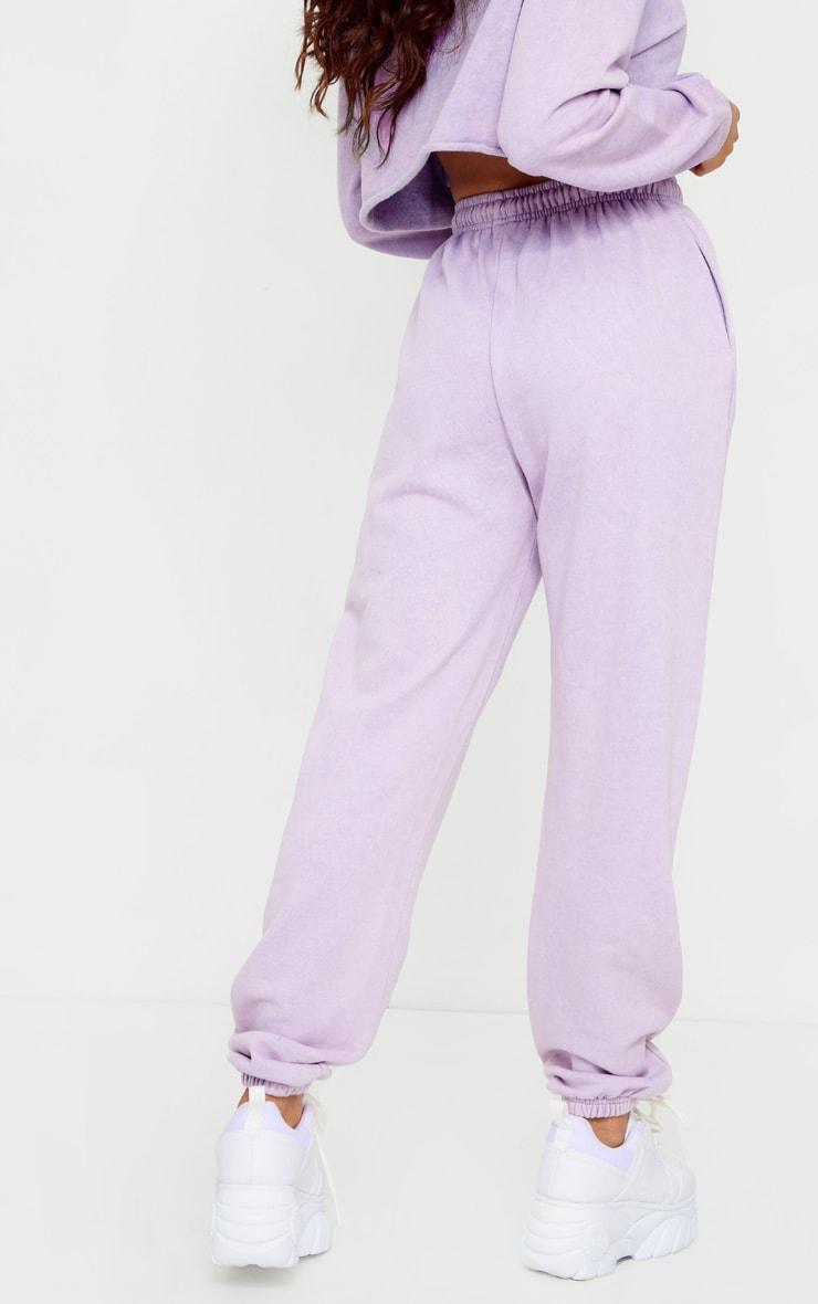 Petite Washed Purple Joggers 3