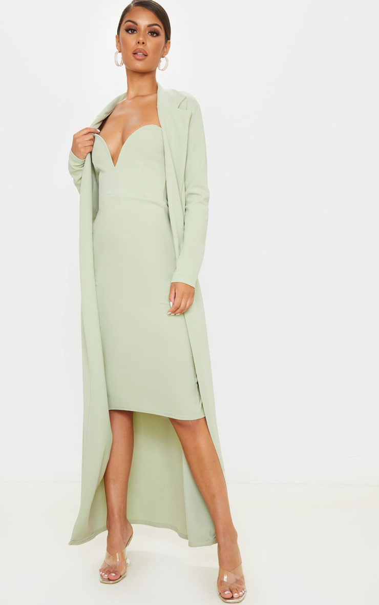 Sage Green Maxi Duster 4