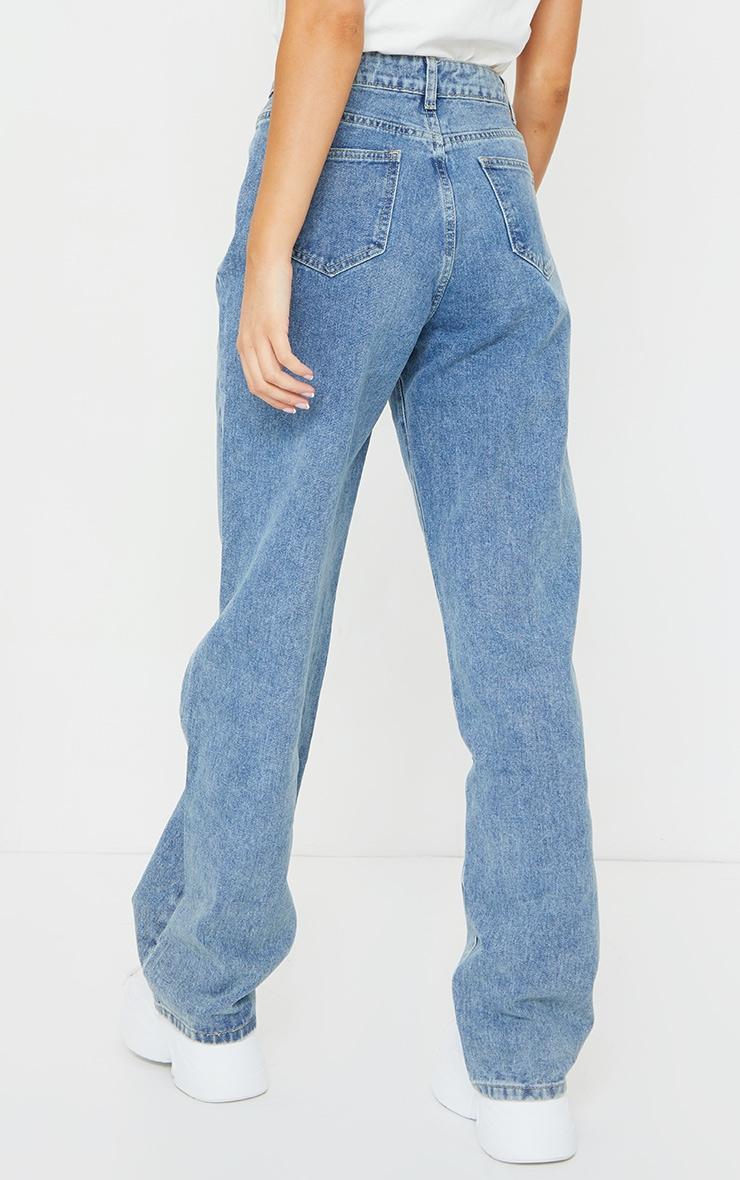 Vintage Wash Seam Front Wide Leg Jean 3