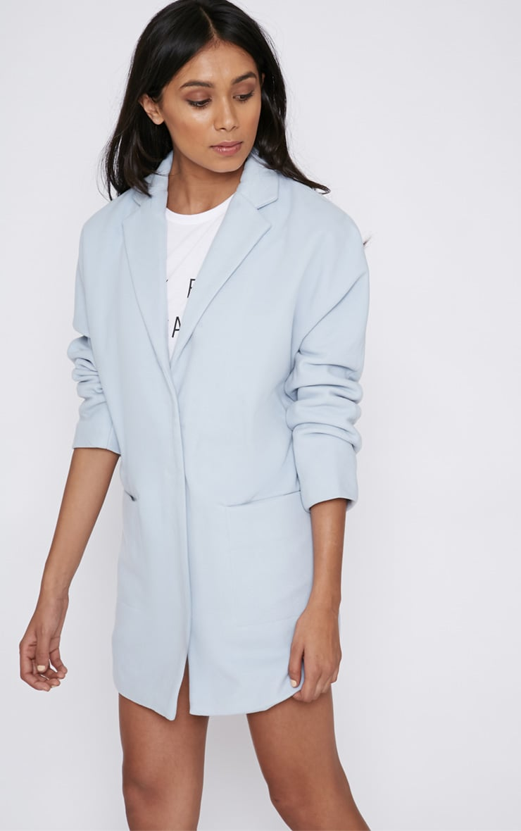 Hope Ice Blue Boyfriend Coat  4
