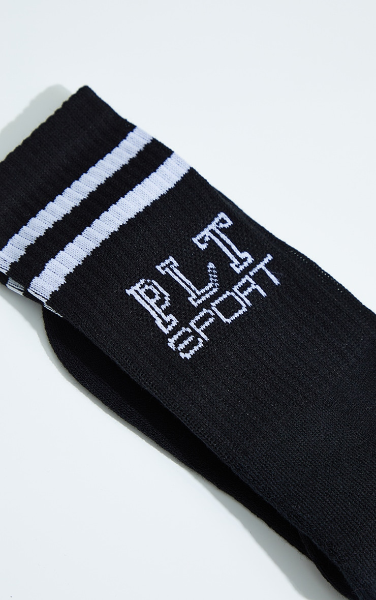 PRETTYLITTLETHING Black Sport Socks 1