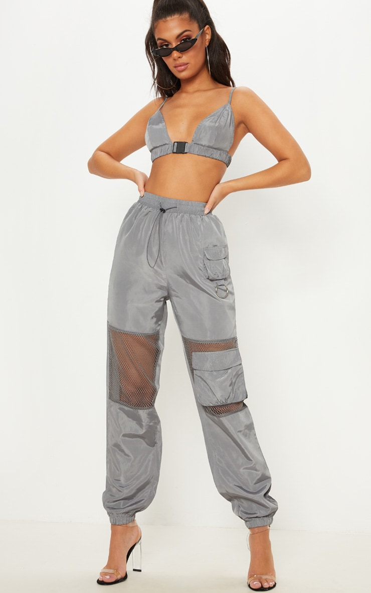 Grey Shell Belt Detail Bralet 4