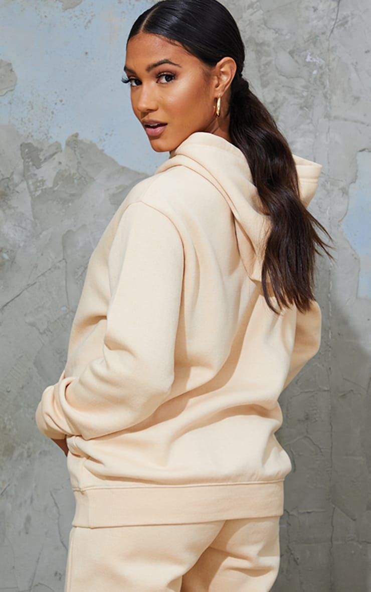 PRETTYLITTLETHING Maternity Camel Embroided Hoodie 2