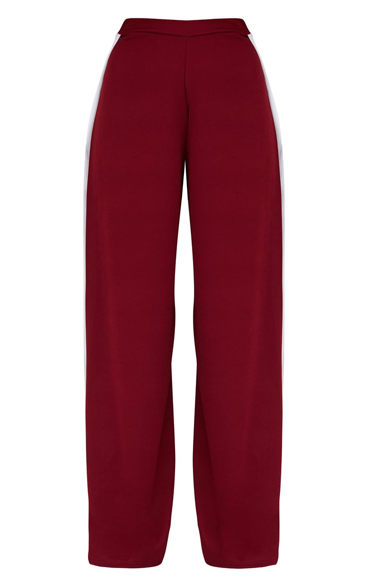 Petite Wine Extreme Split Flared Trousers 3