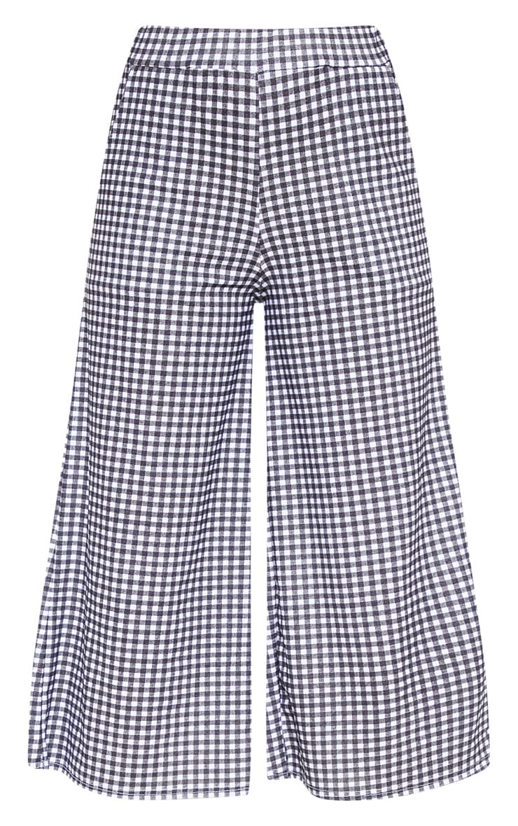 Black Gingham Pocket Detail Culottes 3