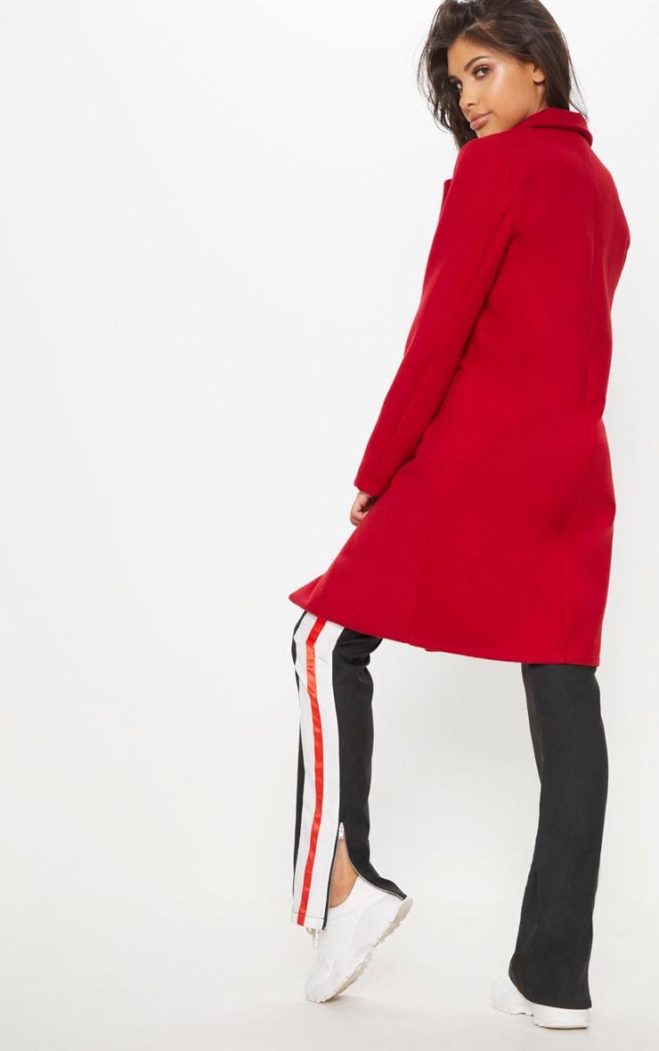 Red Pocket Front Coat  2