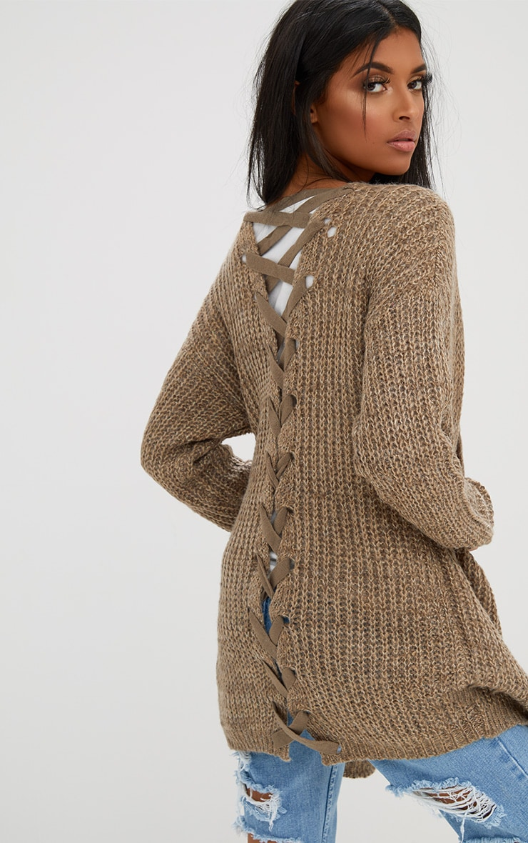 Stone Lace Tie Back Cardigan 1