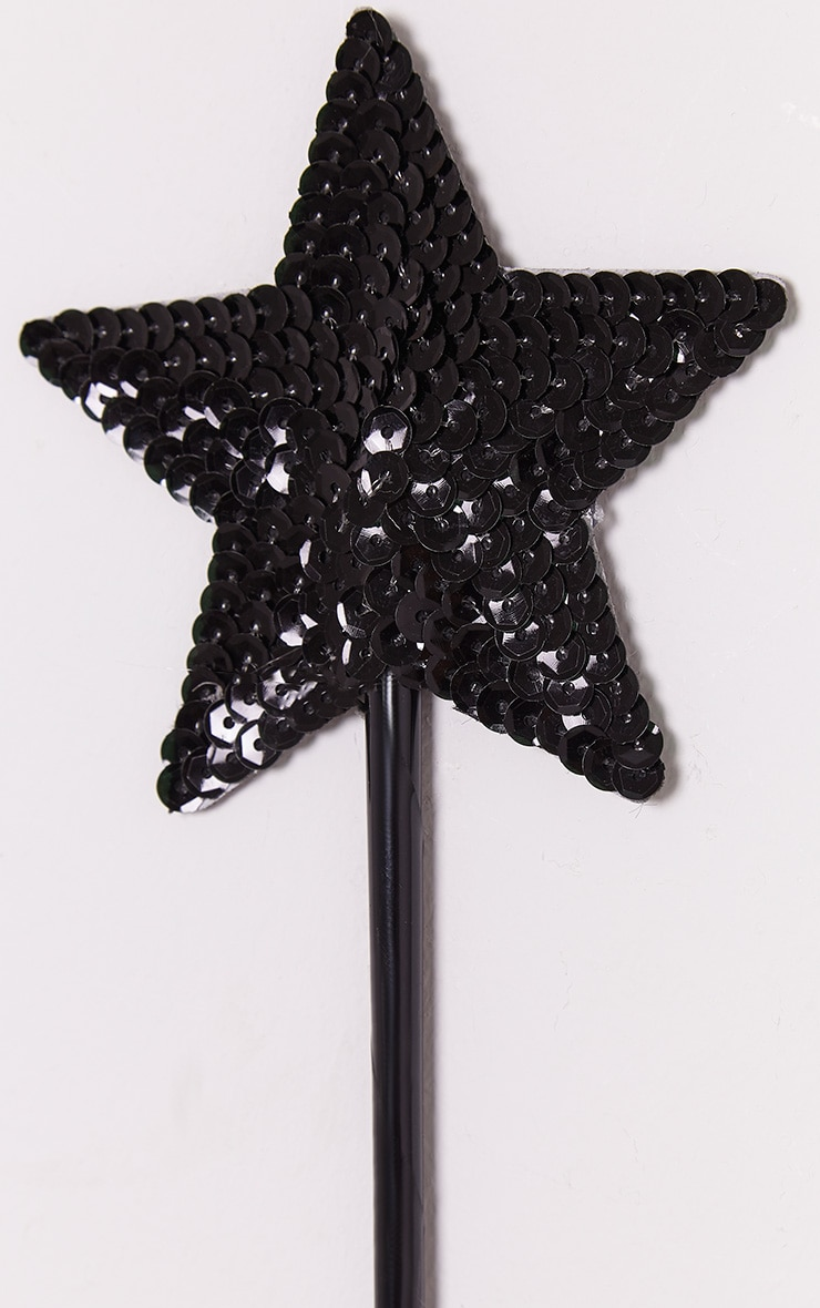 Black Sequin Star Wand 3