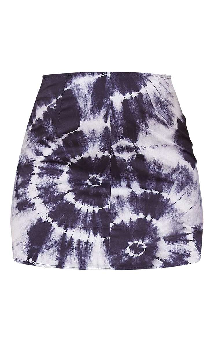 Black Tie Dye A Line Mini Skirt 6