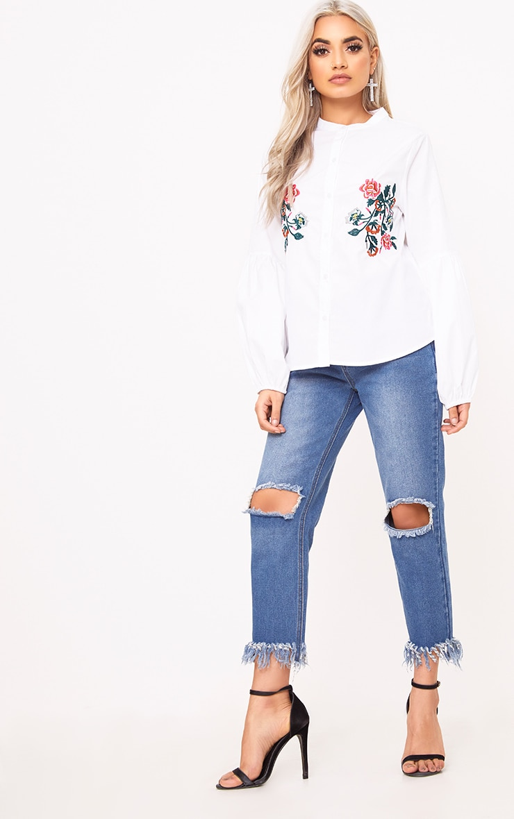 White Embroidered Shirt 4