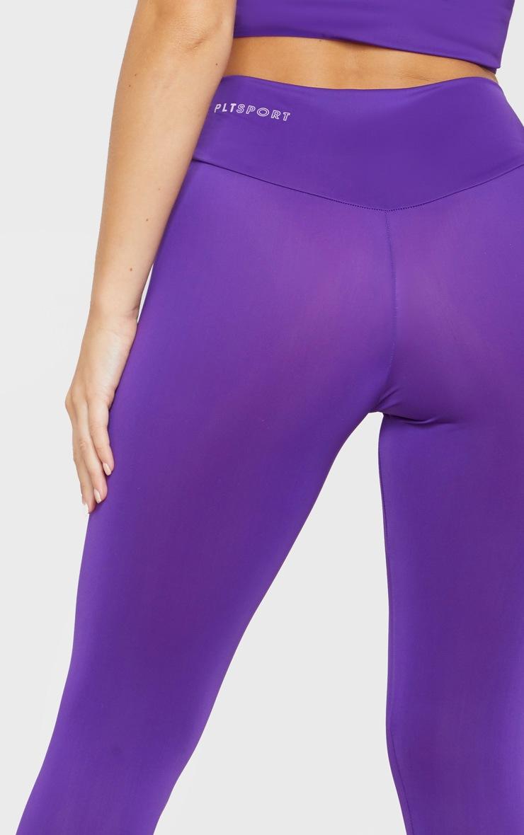 PRETTYLITTLETHING Purple High Waisted Gym Legging 5