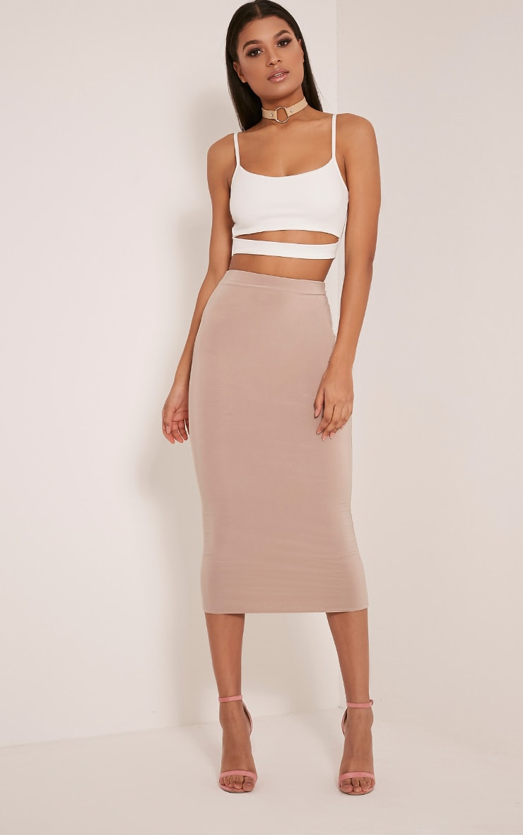 Alexia Cream Cut Out Crop Top 4