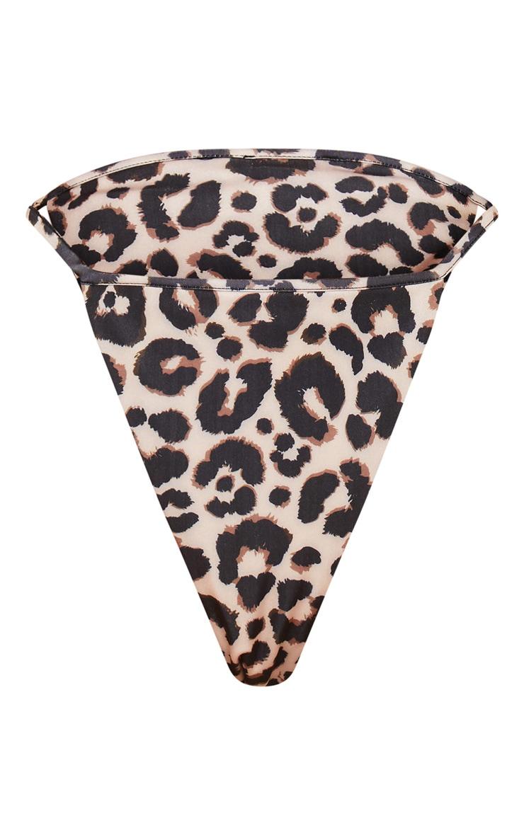 Leopard Tanga Strap Bikini Bottom 3