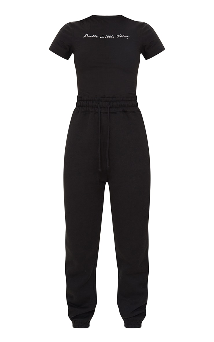 PRETTYLITTLETHING Black Short Sleeve Jumpsuit 5