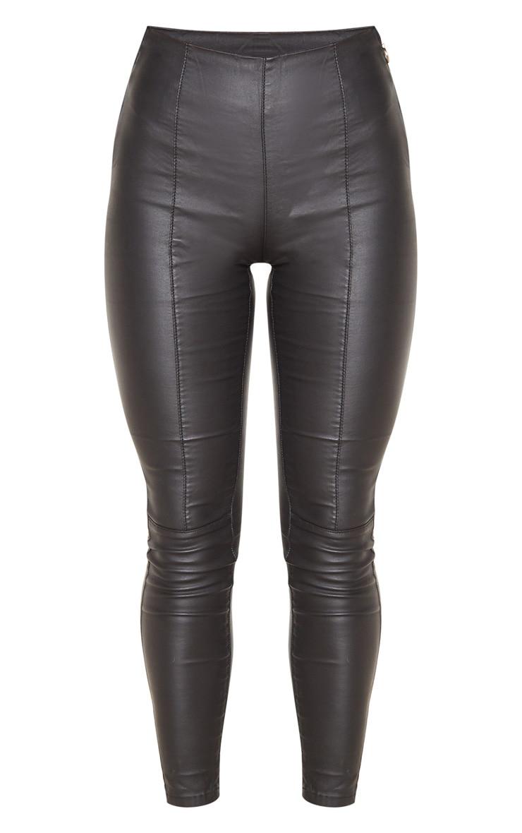 Black Zip Side Coated Jeans 3