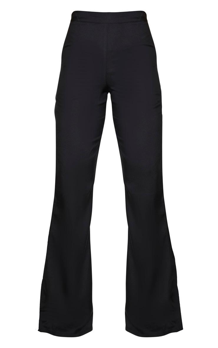 Tall Black Wide Leg Flared Trouser 3