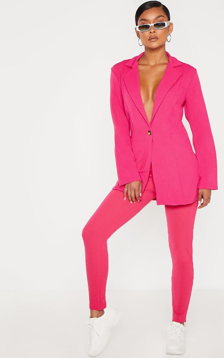 Bright Pink Oversized Boyfriend Blazer 4