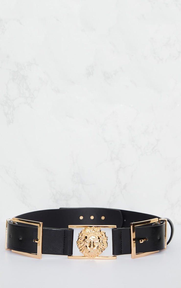 Black Lion Buckle Detail Belt 4