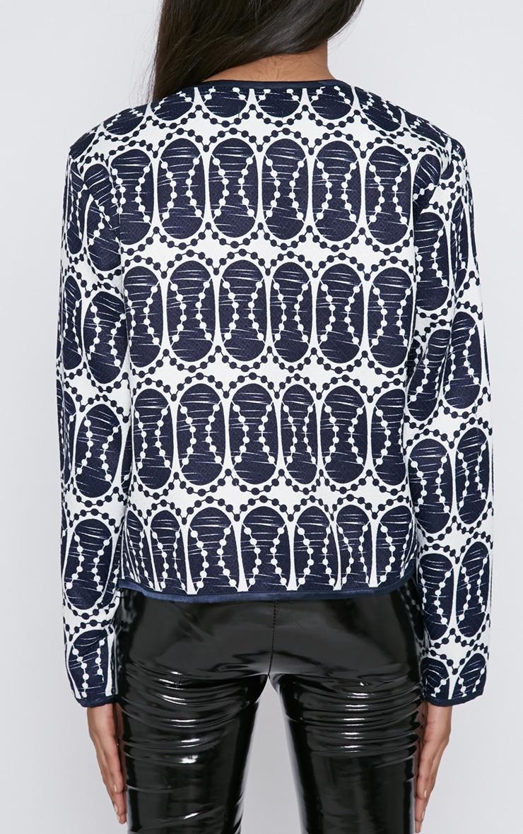 Dee Navy Print Jacket  2