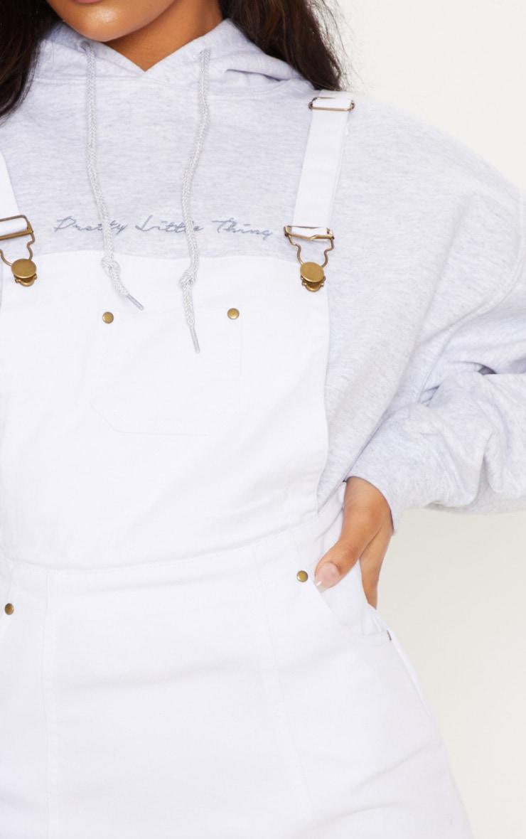 Martine White Denim Pinafore Dress 5